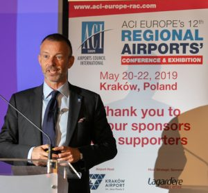 Olivier Jankovec, Director General ACI EUROPE speaking at the conference