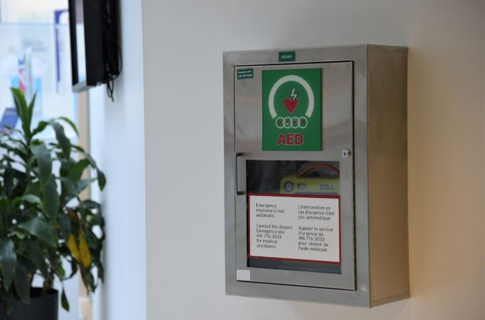 Toronto Pearson installs 250 new Automatic External Defibrillators (AED)