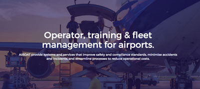 New brand. New site. New services. - AIRDAT brings operator, training and fleet management for airports right up to date