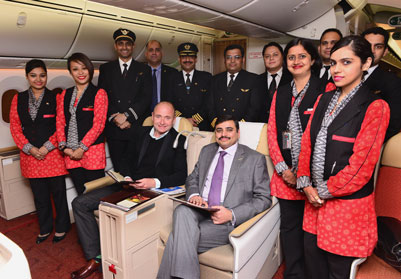William Pearson, Birmingham Airport's Aviation Development Director and (front right) Vishwanath Panyam, Air India's Astt. General Manager