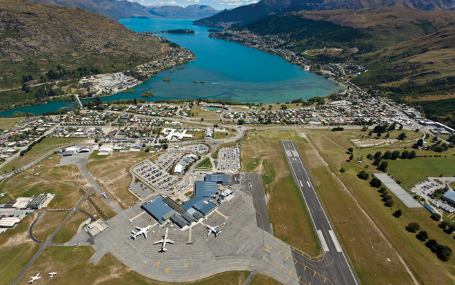 Airfield Lighting at Queenstown Airport in New Zealand