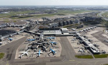 Arial view of Amsterdam Airport Schiphol