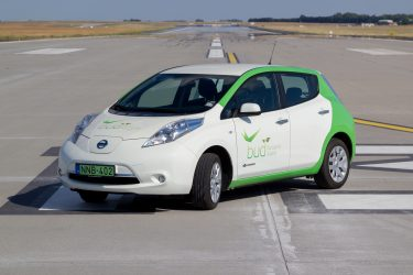 Budapest Airport electric car
