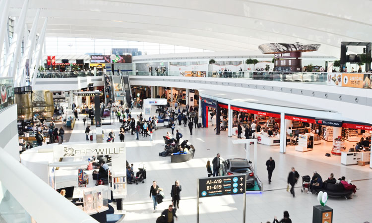 Budapest Airport's retail area of terminal