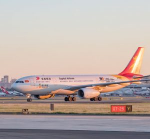 Capital Airlines touches down at Sydney Airport