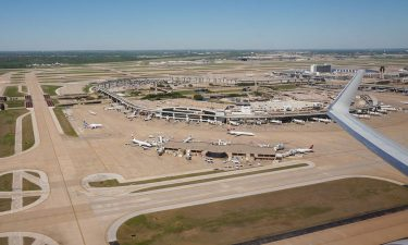 Arial view of Dallas/Fort Worth International Airport