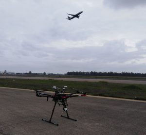 Drones used to inspect the flight field at Seville Airport
