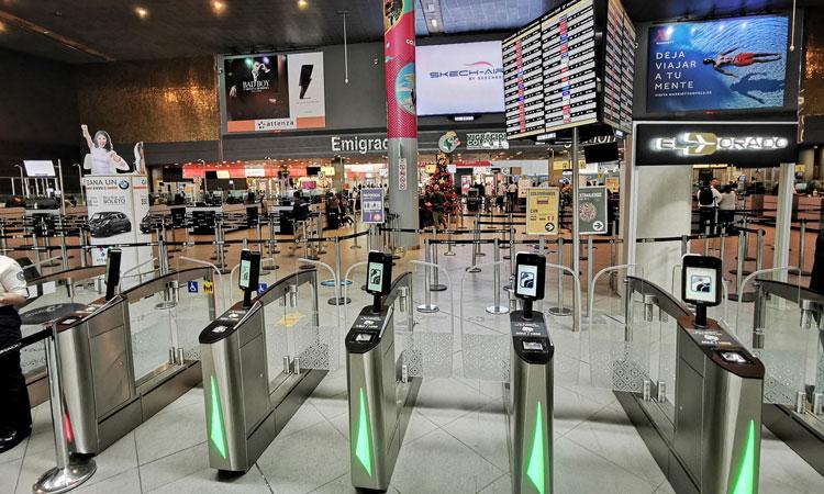 Inside El Dorado Airport's terminal