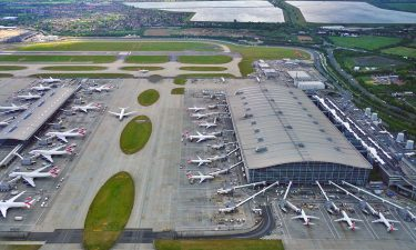 Arial view of London Heathrow Airport