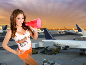 Hooters American Restaurant and Sportsbar opened its first airport location at Frankfurt Airport