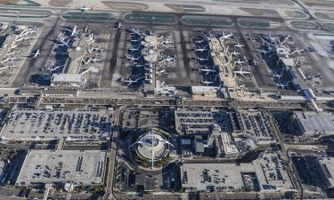 Arial view of Los Angeles International Airport