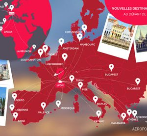 Lyon Airport adds 22 new direct routes in 2016