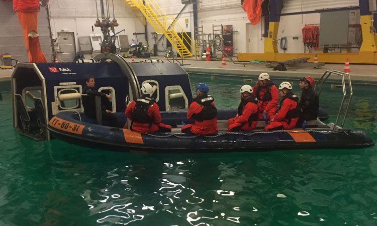 Aircraft water rescue training at Copenhagen Airport