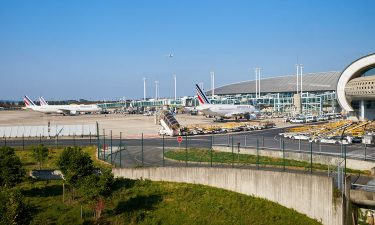 View of Paris Charles de Gaulle Airport airfield
