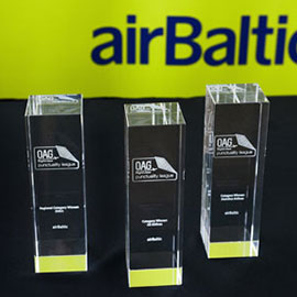 airBaltic Receives Awards as the World's Most Punctual Airline