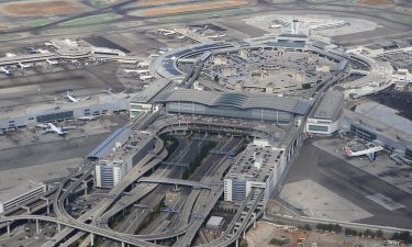Arial view of San Francisco International Airport