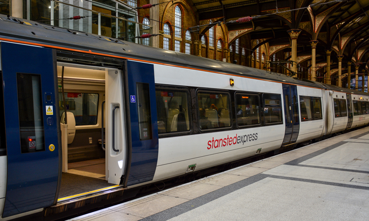 Stansted Airport's Stansted Express is an example of fixed transport infrastructure