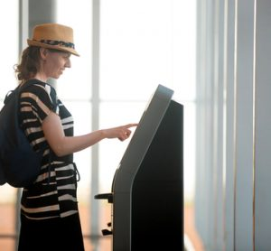US air travellers: happy when using self-service check-in