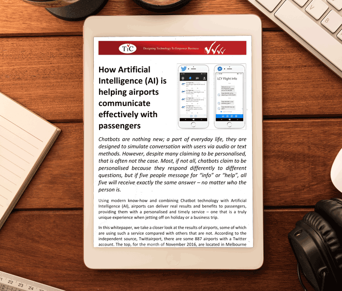How artificial intelligence (AI) is helping airports communicate effectively with passengers
