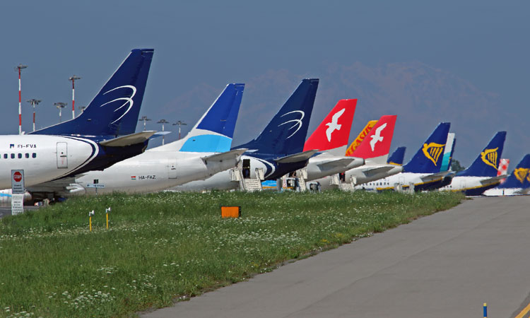 Some of the airlines present at Milan Bergamo