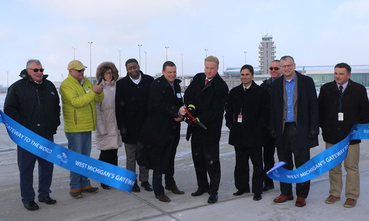 Apron reconstruction project completed at Gerald R. Ford Airport
