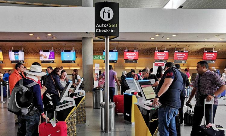 Automated check in at El Dorado airport