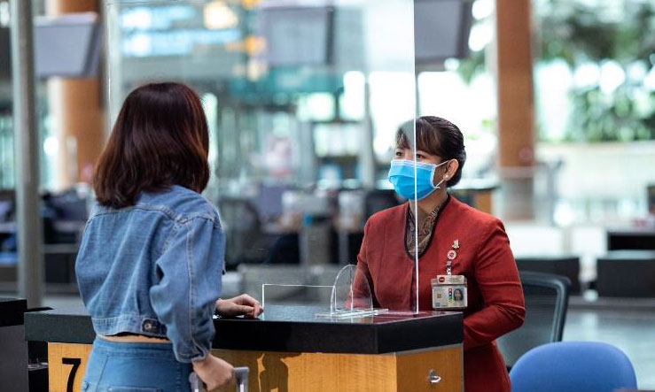 Changi implements screen for staff and passenger safety