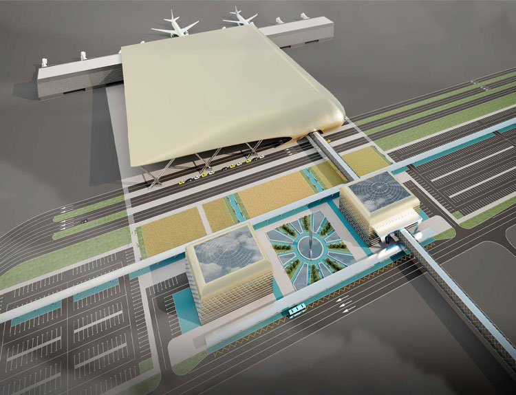 A conception of the new terminal at Krasnodar