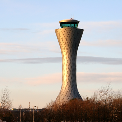 Edinburgh Airport air traffic control tower