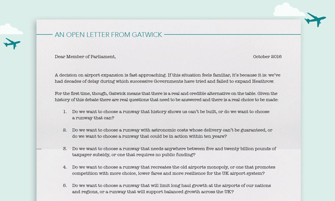 Decision Time: An open letter from Gatwick to MPs
