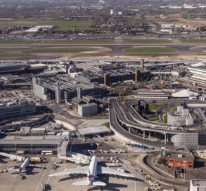 Aerial view of London Heathrow Airport