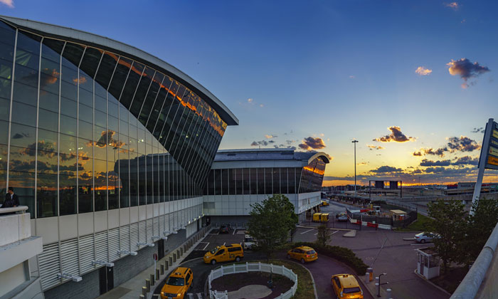 John F Kennedy JFK Airport - 16th largest airport in the world by passenger number