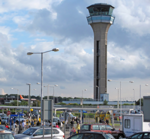 London Luton Airport air traffic control tower