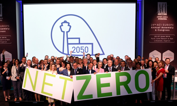 193 European airports have agreed to reduce carbon emissions by 2050