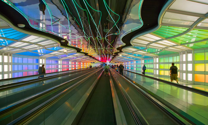 O'Hare International Airport Chicago - 6th largest airport in the world by passenger number