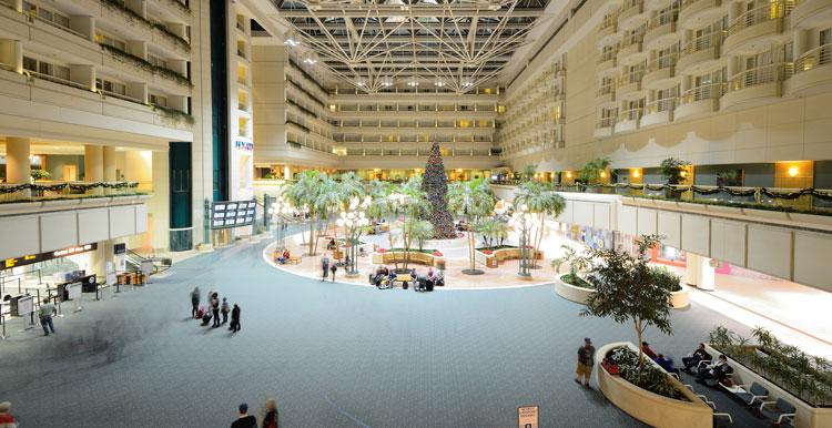 Orlando International Airport main concourse