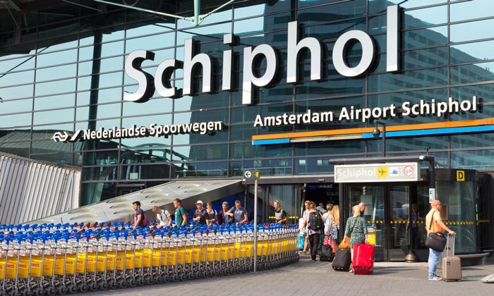 Amsterdam Schiphol Airport - 12th largest airport in the world by passenger number