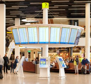 Schiphol revises traditional methods of passenger information delivery