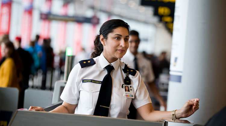 Airport security personnel