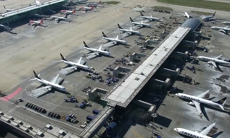 Drone images of Stansted Airport