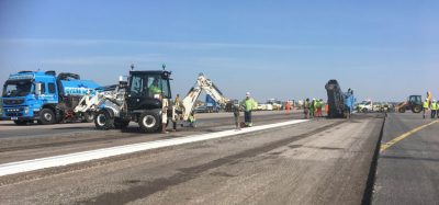 Runway maintenance occurs at London Stansted