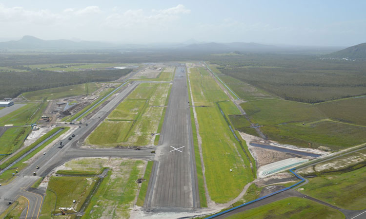 The new runway at Sunshine Coast